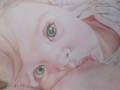 The look, coloured pencils on paper, 35x50cm, 2014